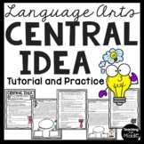 CENTRAL IDEA tutorial lesson, reading comprehension,main i