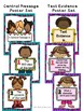CENTRAL MESSAGE & TEXT EVIDENCE Posters-Exit Tickets-Written Response Templates