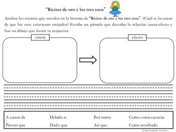 CENTRO CUENTOS POPULARES CAUSA EFECTO CENTER FAIRY TALES CAUSE EFFECT SPANISH