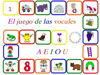 CENTRO DE VOCALES CON JUEGOS / VOWELS CENTER WITH GAMES SPANISH