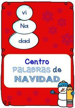 CENTROS NAVIDAD: Forma palabras haciendo muñecos de nieve 1st grade