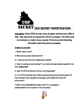 CEO Secret Investigation Business English Fun Stuff