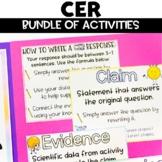 CER | Claim Evidence Reasoning Activity