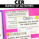 CER | Claim Evidence Reasoning Activity Bundle