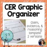 CER- Claim Evidence Reasoning Graphic Organizer