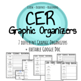 CER (Claim-Evidence-Reasoning) Graphic Organizers