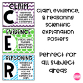CER - Claim, Evidence, & Reasoning Posters