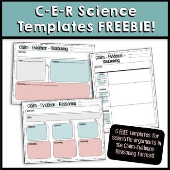 CER (Claim, Evidence, Reasoning) Science Writing Templates - FREEBIE
