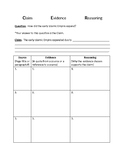 CER - Claim/Evidence/Reasoning Template and Rubric