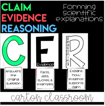 CER - Claim Evidence and Reasoning Classroom Set