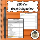 CER-Con Argumentative Writing Graphic Organizer Distance Learning