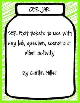 CER Jar Exit Tickets