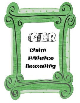 CER Poster (Claim, Evidence, Reasoning)