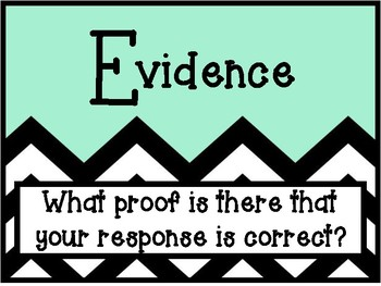 CER Posters- Claim Evidence Reasoning Constructed Response Writing Strategy
