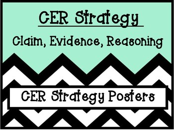 CER Posters Claim Evidence Reasoning Constructed Response Writing Strategy