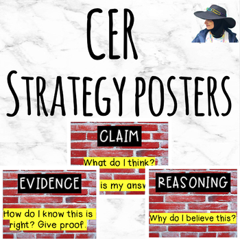 CER Posters-  Writing Strategy