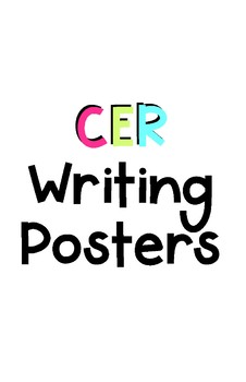 CER Science Writing Posters