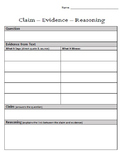 CER Writing - Claim Evidence Reasoning
