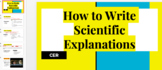 CER: Writing Scientific explanations Bundle