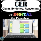 claim, evidence, reasoning (CER) paperless scientific explanation