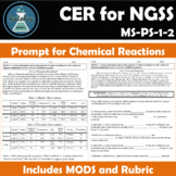Chemical Reactions CER for NGSS MS-PS-1-2