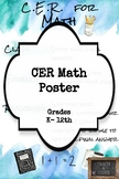CER in Math Poster