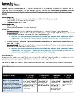 CERC - Writing Claims