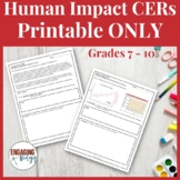 CERs for Human Impact on the Environment.