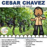 CESAR CHAVEZ IN SPANISH AND ENGLISH