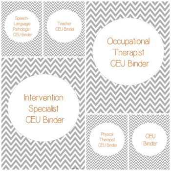 CEU Binder {Freebie} For Teachers, SLP, OT, PT, IS, SLPA