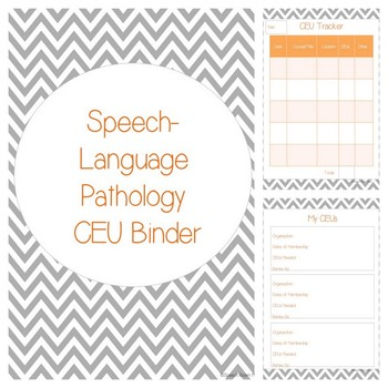 CEU Binder {Freebie} For Teachers, SLP, OT, PT, IS, SLPA