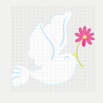 CF143 Easter Dove Cut File
