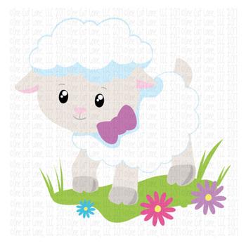 CF144 Easter Lamb Cut File