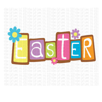 CF146 Easter Word Cut File