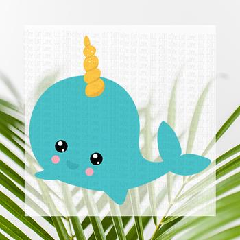 CF165 Whale Unicorn Cut File