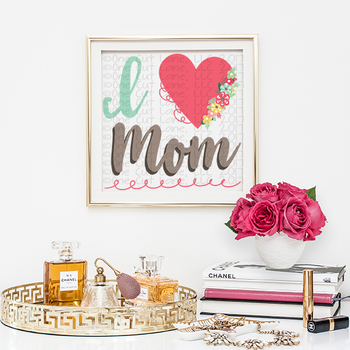 CF172 I Love Mom Cut File