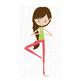 CF187 Yoga Girl SVG Cut File