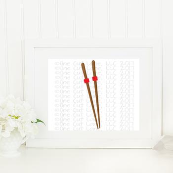 CF188 Chopsticks Cut File