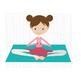 CF188 Yoga Girl on Mat