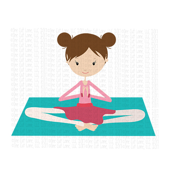 CF188 Yoga Girl on Mat