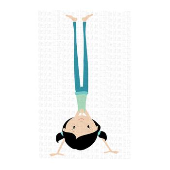 CF189 Yoga Girl Handstand SVG Cut File
