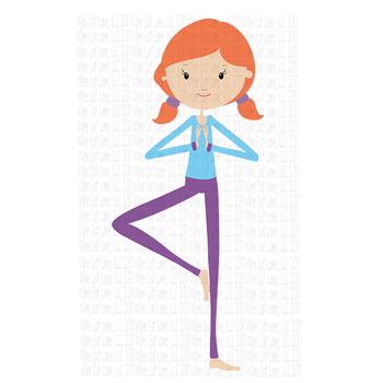 CF190 Yoga Girl SVG Cut File