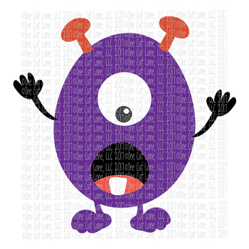 CF198 Monster SVG Cut File
