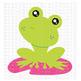CF208 Spring Frog SVG Cut File