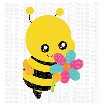CF210 Spring Bee SVG Cut File