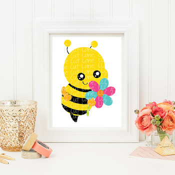 CF210 Spring Bee SVG Cut File