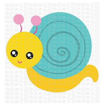 CF211 Spring Snail SVG Cut File