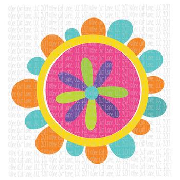 CF214 Spring Flower SVG Cut File