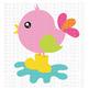 CF217 Spring Bird SVG Cut File