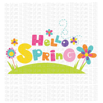 CF218 Hello Spring SVG Cut File